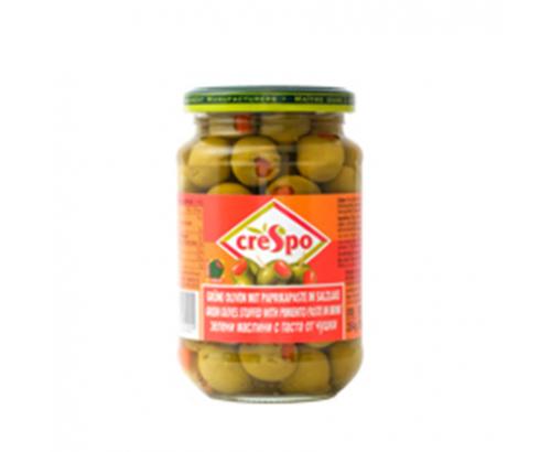 Зелени маслини Креспо 354г С паста от чушки
