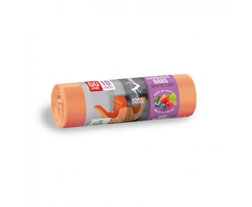 Торби за смет Ана Зарадна 60л 10бр С аромат на плодове