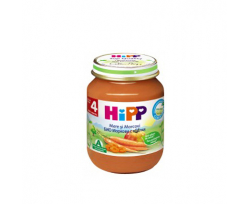 Био пюре Хип 125г Морков и ябълка