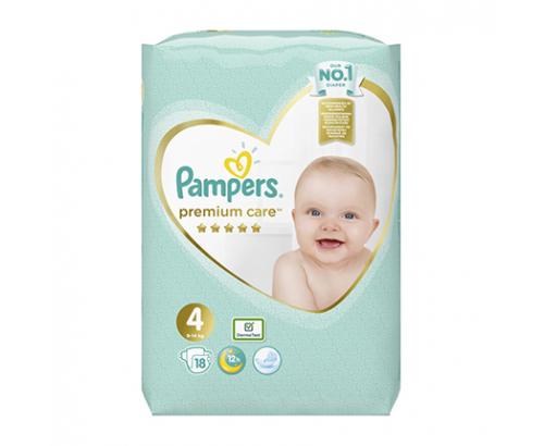 Бебешки пелени Памперс Премиум Кеър 18бр 9-14кг