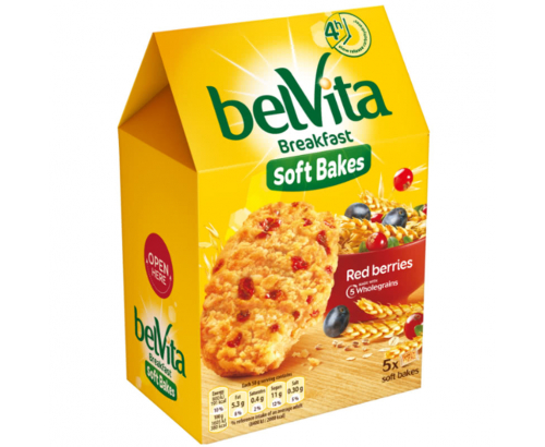 Бисквити Белвита Софт 250г Червена боровинка