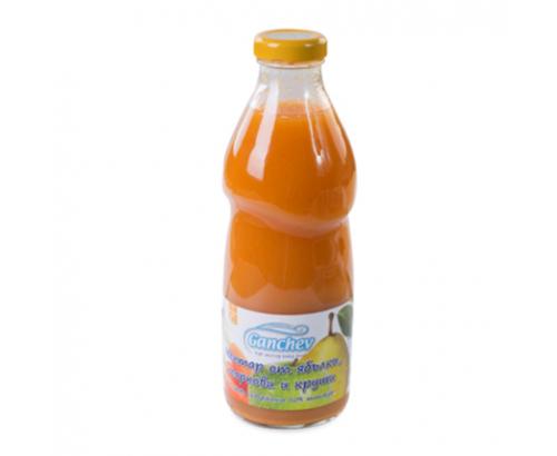 Нектар Ганчев 750мл Ябълка, морков, круша