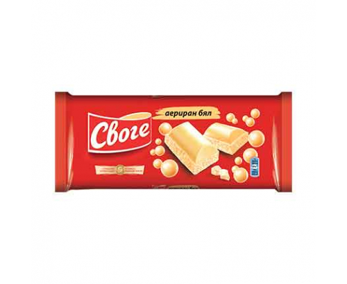 Аеро шоколад Своге 80г Бял
