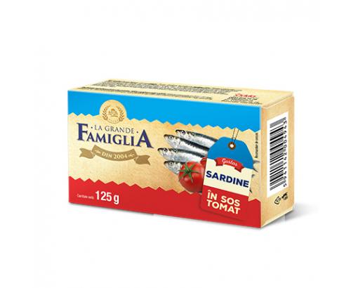 Сардини в доматен сос Ла Гранде Фамилия 125г