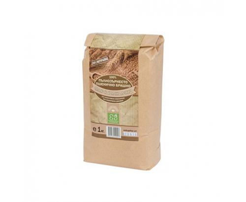 Брашно 100% Пълнозърнесто от пшеница Екосем 1кг