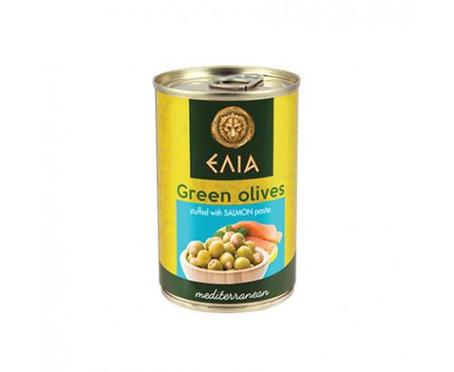 Зелени маслини с паста от сьомга Елиа 300г
