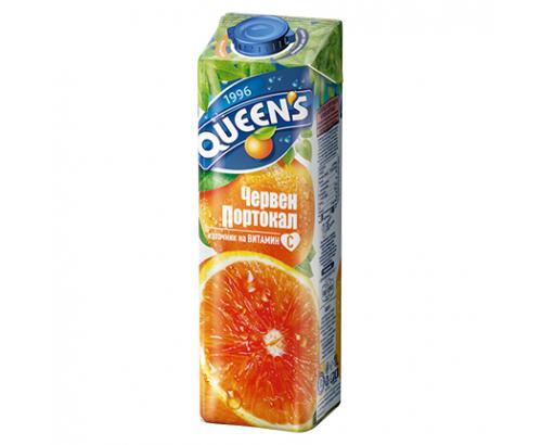 Напитка Куинс 1л Червен портокал