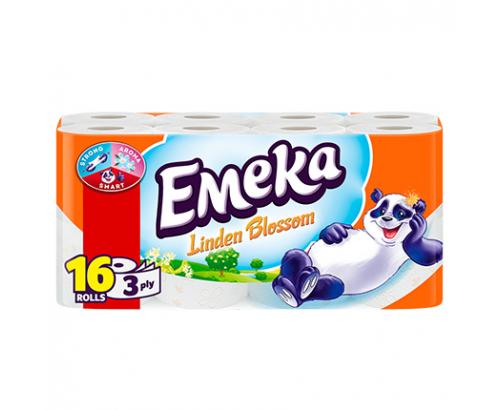 Тоалетна хартия Емека 16бр Липа