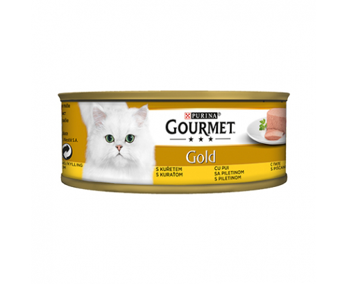 Храна за котки Гурме Голд 85г Пастет Пиле