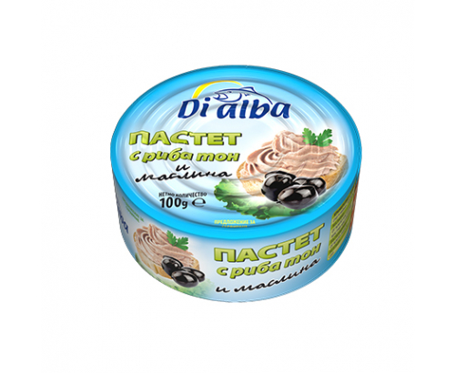 Пастет Ди Алба 100г Риба тон и маслина