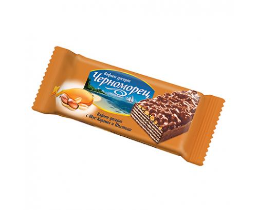 Вафлен десерт Черноморец 60г Фъстък и карамел