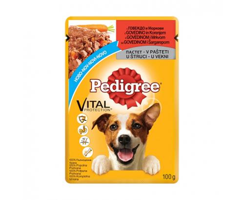 Храна за кучета Педигри 100г Пастет говеждо и морков