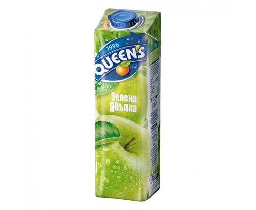 Напитка Куинс 1л Зелена ябълка