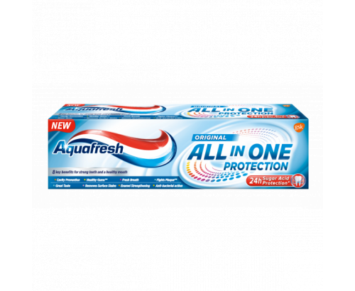 Паста за зъби Аквафреш 75мл Всичко в Едно Оригинал