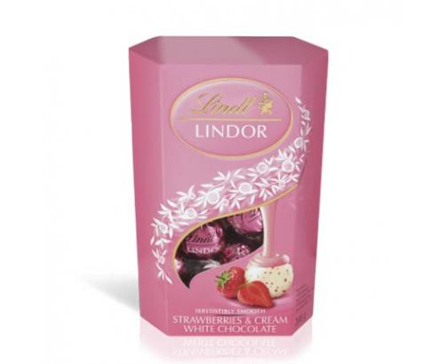 Шоколадови бонбони Линдт Корнет 200г Ягода