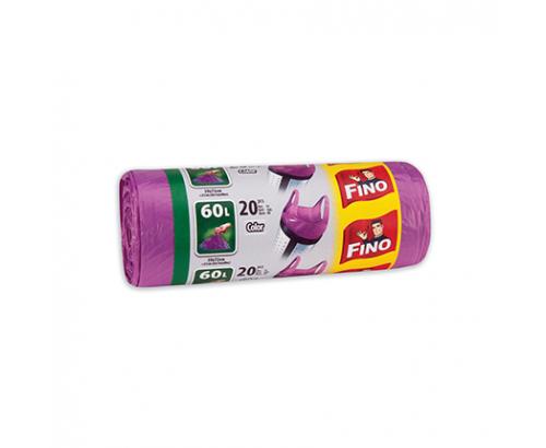 Торби за смет Фино 60л Цветни с дръжки