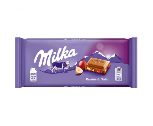 Шоколад Милка 100г Лешник и стафида
