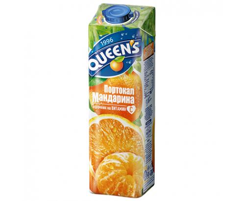 Нектар Куинс 1л Портокал и мандарина