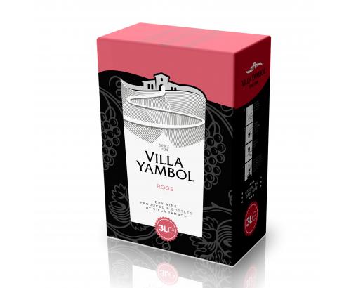 Вино Вила Ямбол 3л Розе