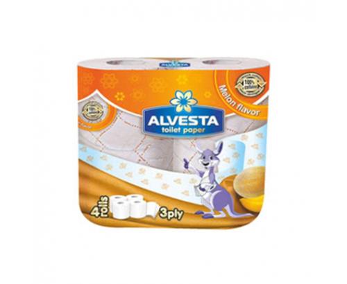 Тоалетна хартия Алвеста 4бр Пъпеш