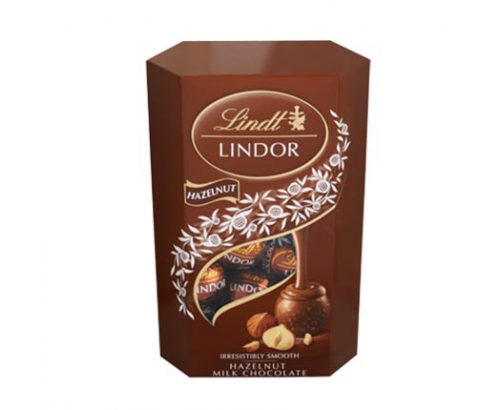 Шоколадови бонбони Линдт Корнет 200г Лешник