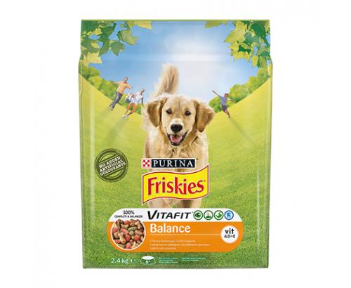 Храна за кучета Фрискас Баланс 2,4кг Суха Пиле и зеленчуци