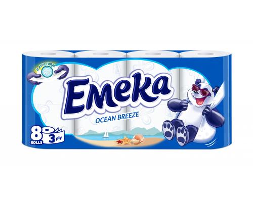 Тоалетна хартия Емека 8бр Брийз