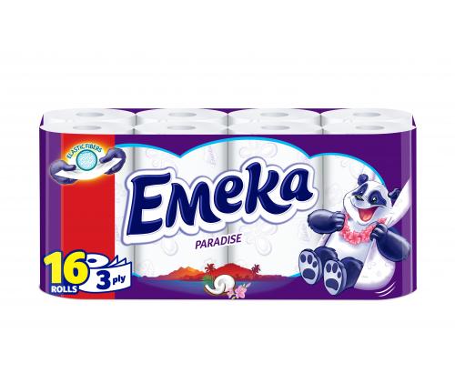 Тоалетна хартия Емека 16бр Перадайз