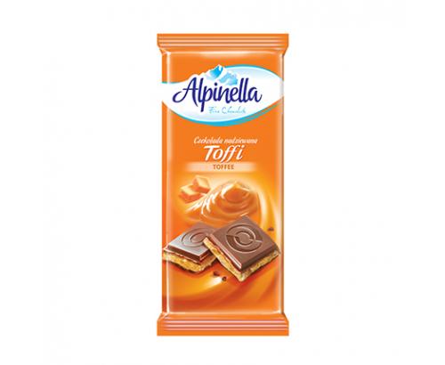 Шоколад Алпинела 100г Млечен с карамел