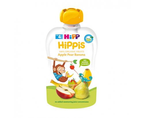 Био плодова закуска Хип 100г Банан, круша, ябълка