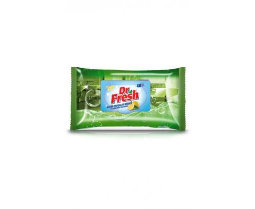 Мокри кърпи Д-р Фреш 40бр Универсални Лимон