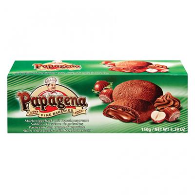 Бисквити Папагена 150г Лешников пълнеж