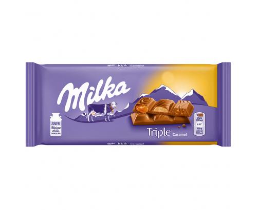Шоколад Милка 90г Трипъл карамел