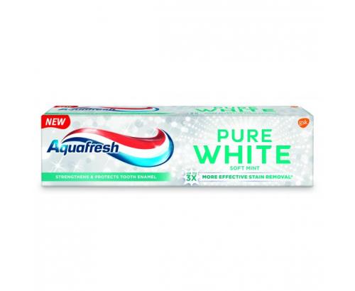 Паста за зъби Аквафреш 75мл Пюър Уайт Софт Минт