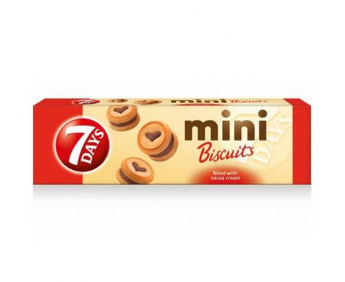 Бисквити 7 дейс мини 100г какаов крем