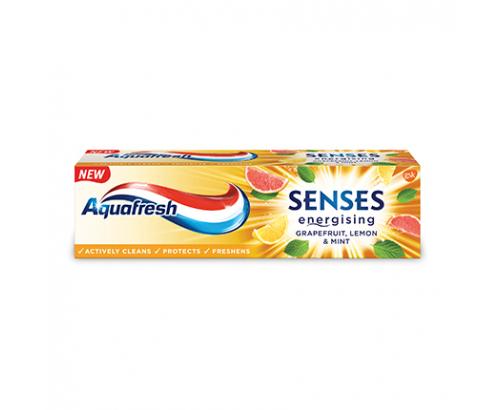 Паста за зъби Аквафреш Сенсес 75мл Грейпфрут, лимон и мента