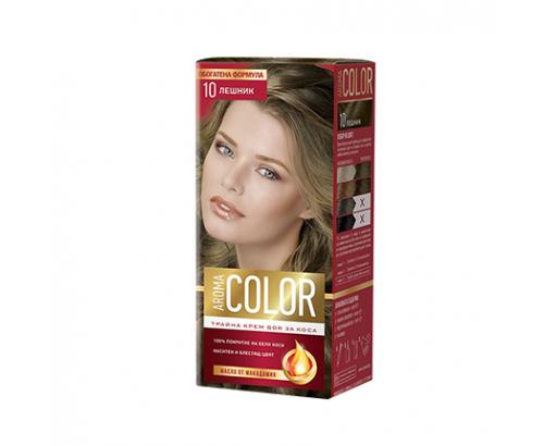 Боя за коса Арома Колор 10 Лешник