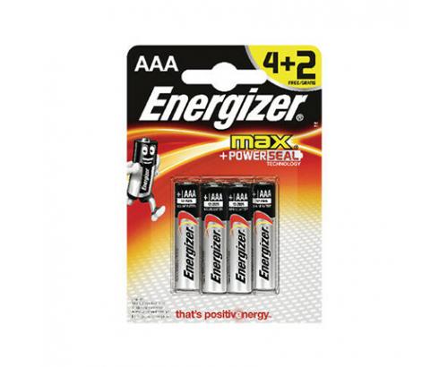 Батерии Енерджайзер Макс Алкални ААА 4+2бр