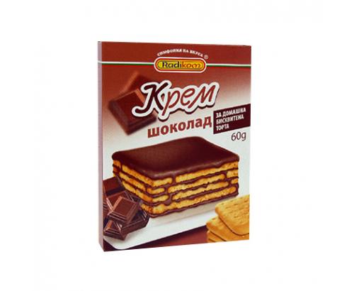Крем за бисквитена торта Радиком 60г Шоколад