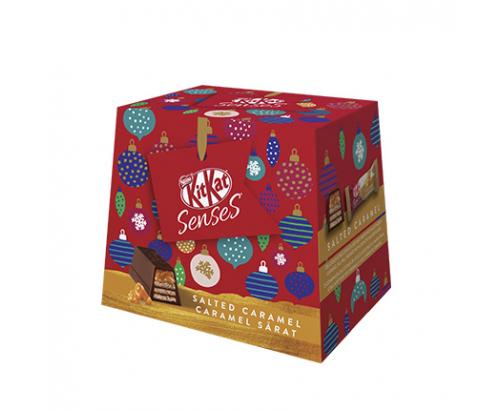 Коледен шоколадови десертчета Кит Кат Сенс 150г Солен карамел