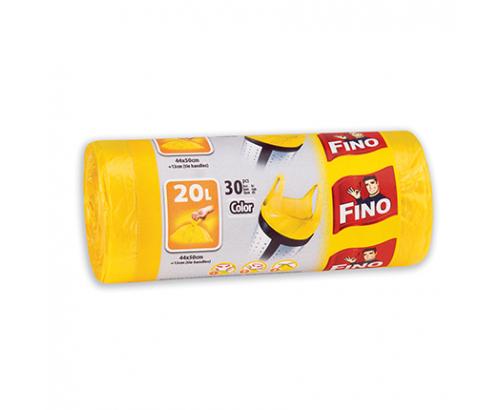 Торби за смет Фино 20л Цветни с дръжки
