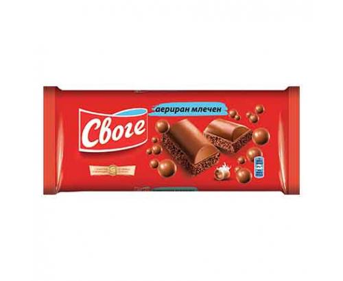 Аеро шоколад Своге 80г Млечен