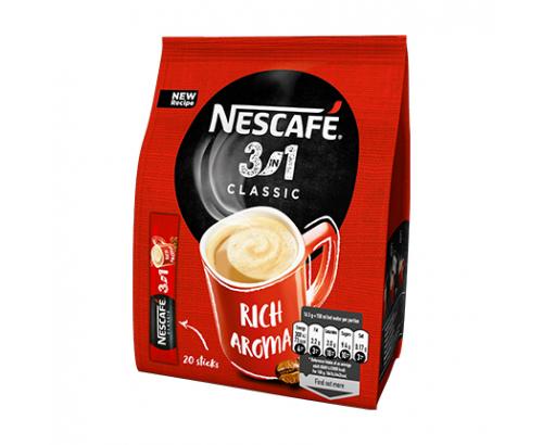 Кафе микс Нескафе 3в1 20х16,5г Класик