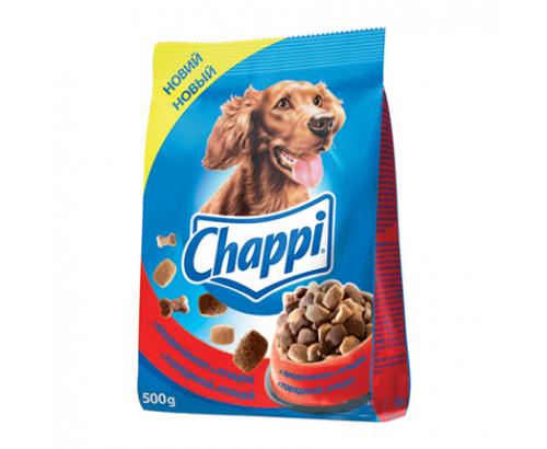 Храна за кучета Чапи 500г Суха говеждо и пиле