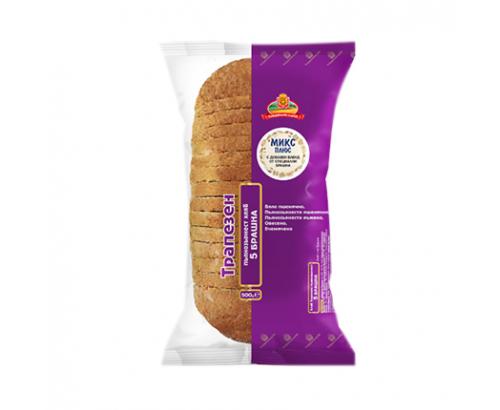 Хляб Добруджански Хляб 500г 5 брашна