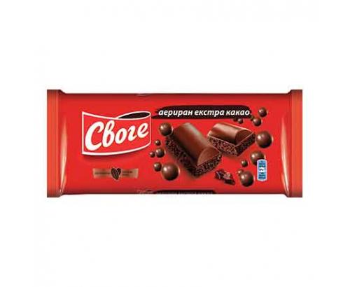Аеро шоколад Своге 80г Екстра какао
