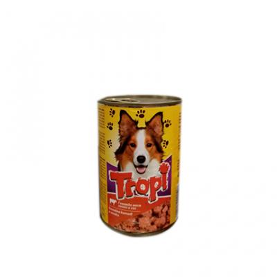 Храна за кучета Тропи 415г Консерва с говеждо