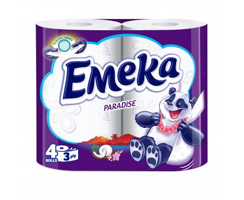 Тоалетна хартия Емека 4бр Перадайз