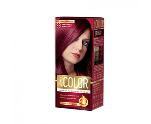 Боя за коса Арома Колор 28 Рубинено червен