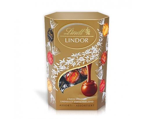 Шоколадови бонбони Линдт Корнет 200г Асортимент